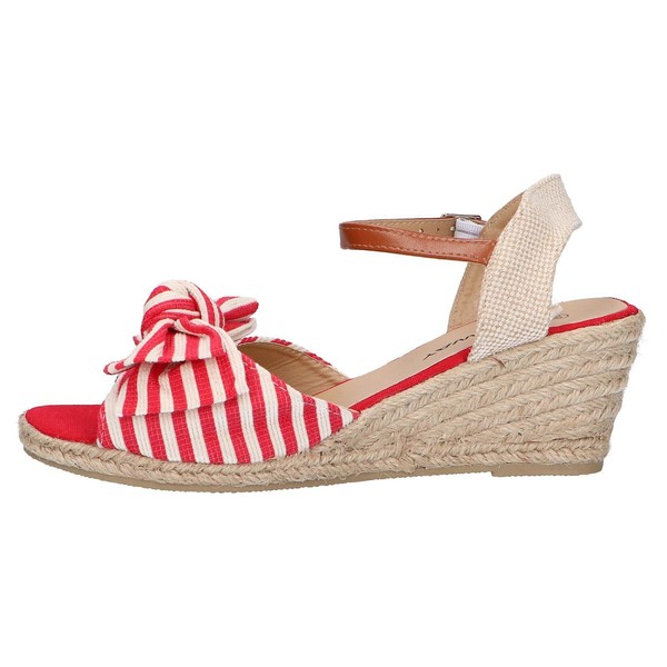 6cm Sandalia cuña mujer - rojo
