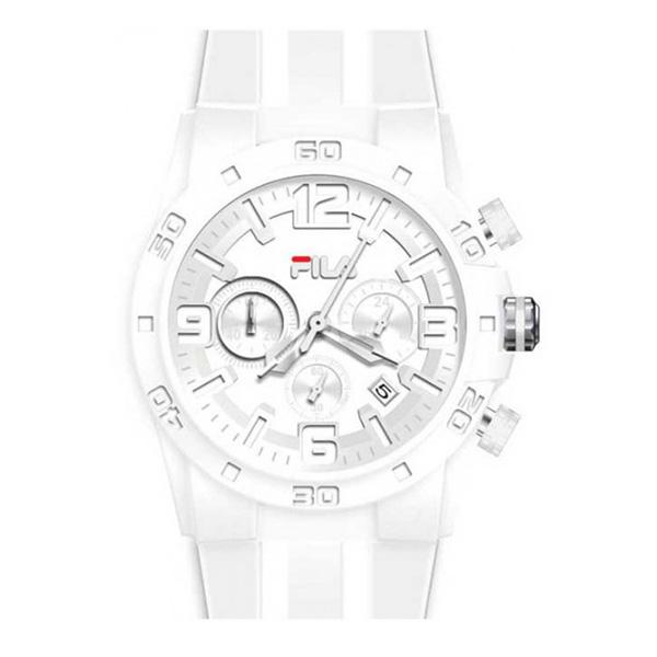 Reloj hombre analógico goma - blanco