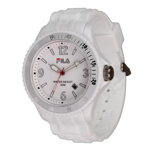Reloj unisex analógico caucho - blanco