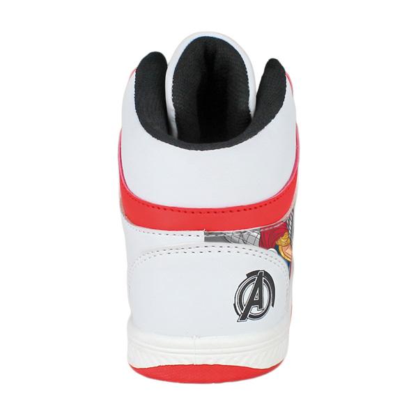 Deportiva abotinada Avengers - blanco/rojo