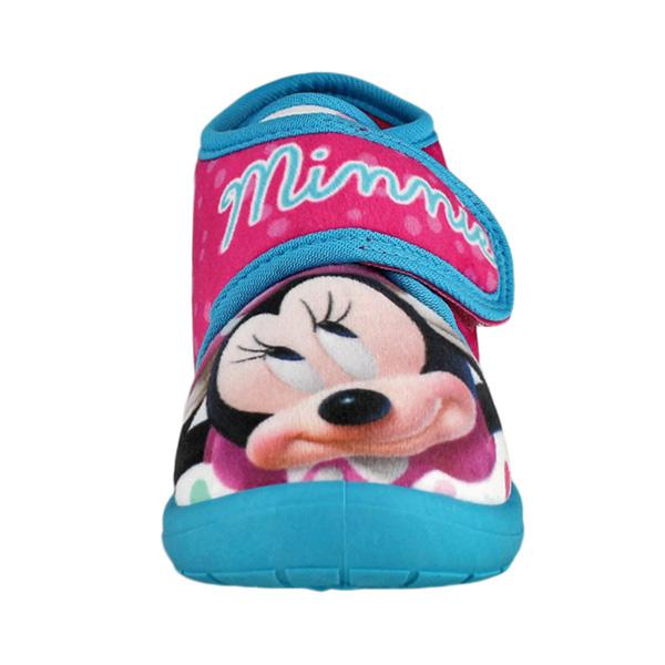 Zapatilla de casa abotinada Minnie - fucsia/azul