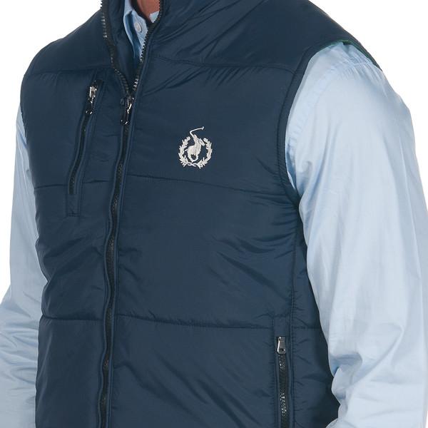 Chaleco acolchado con capucha extraíble - azul marino