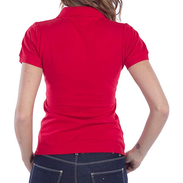 Polo m/corta Custom fit mujer - rojo