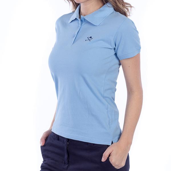 Polo m/corta mujer - azul