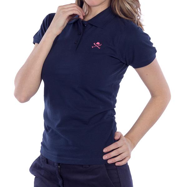 Polo m/corta Custom fit mujer - azul