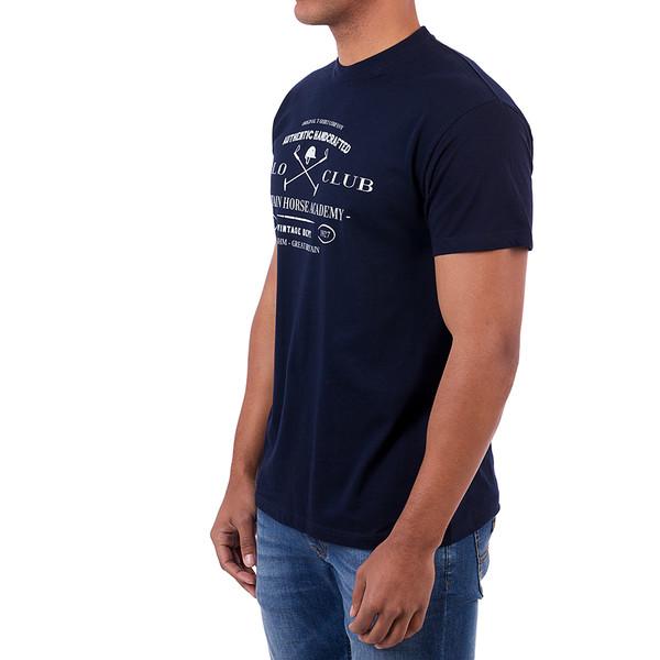 Camiseta m/corta Custom fit hombre - azul
