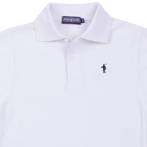 Polo m/corta Mini Rigby custom fit - blanco