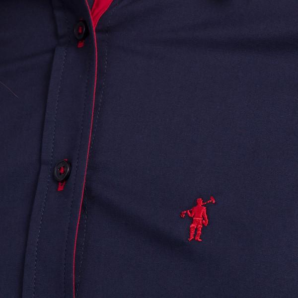 Camisa mujer custom fit - azul