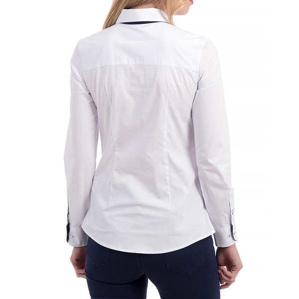 Camisa mujer custom fit - blanco