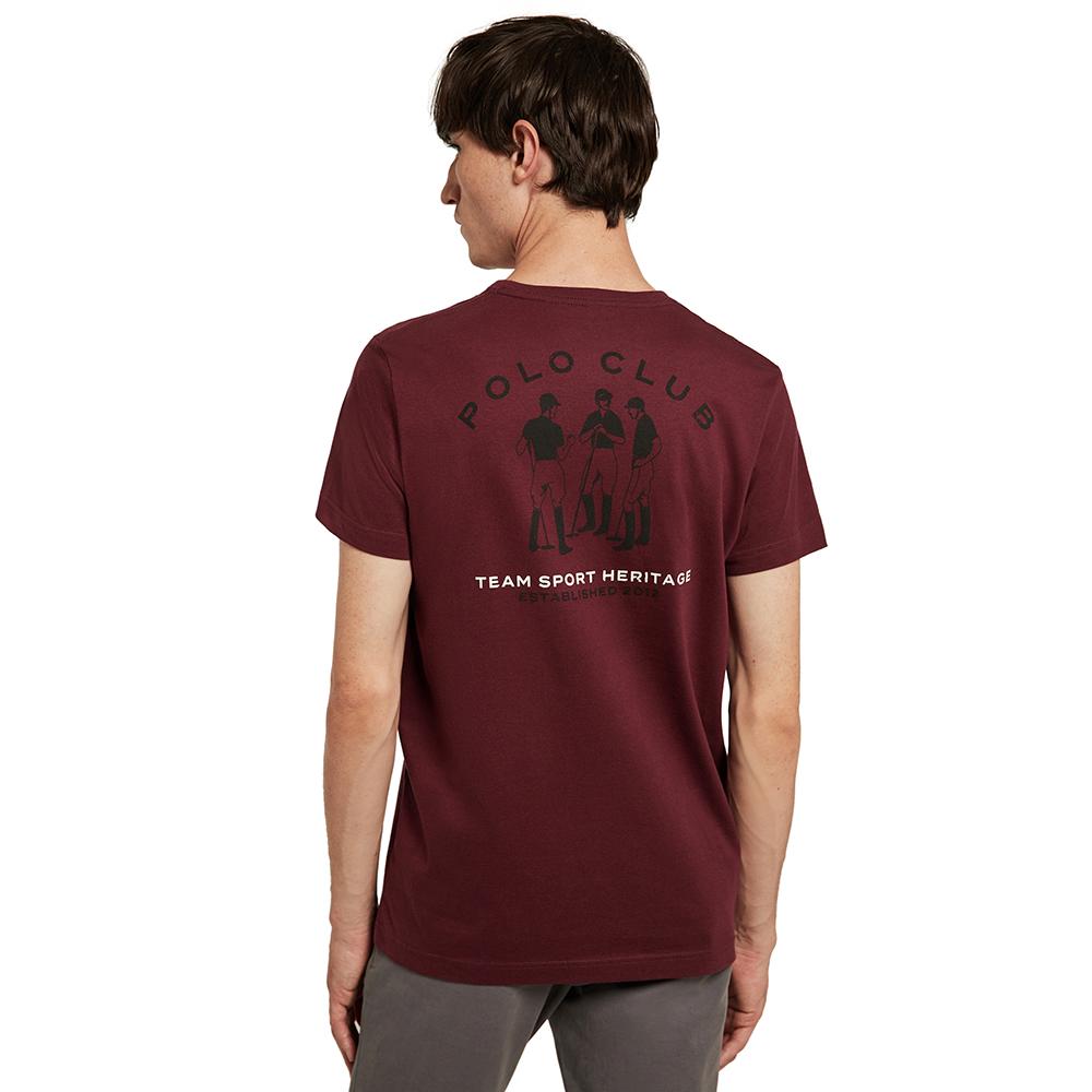 Camiseta m/corta hombre - granate