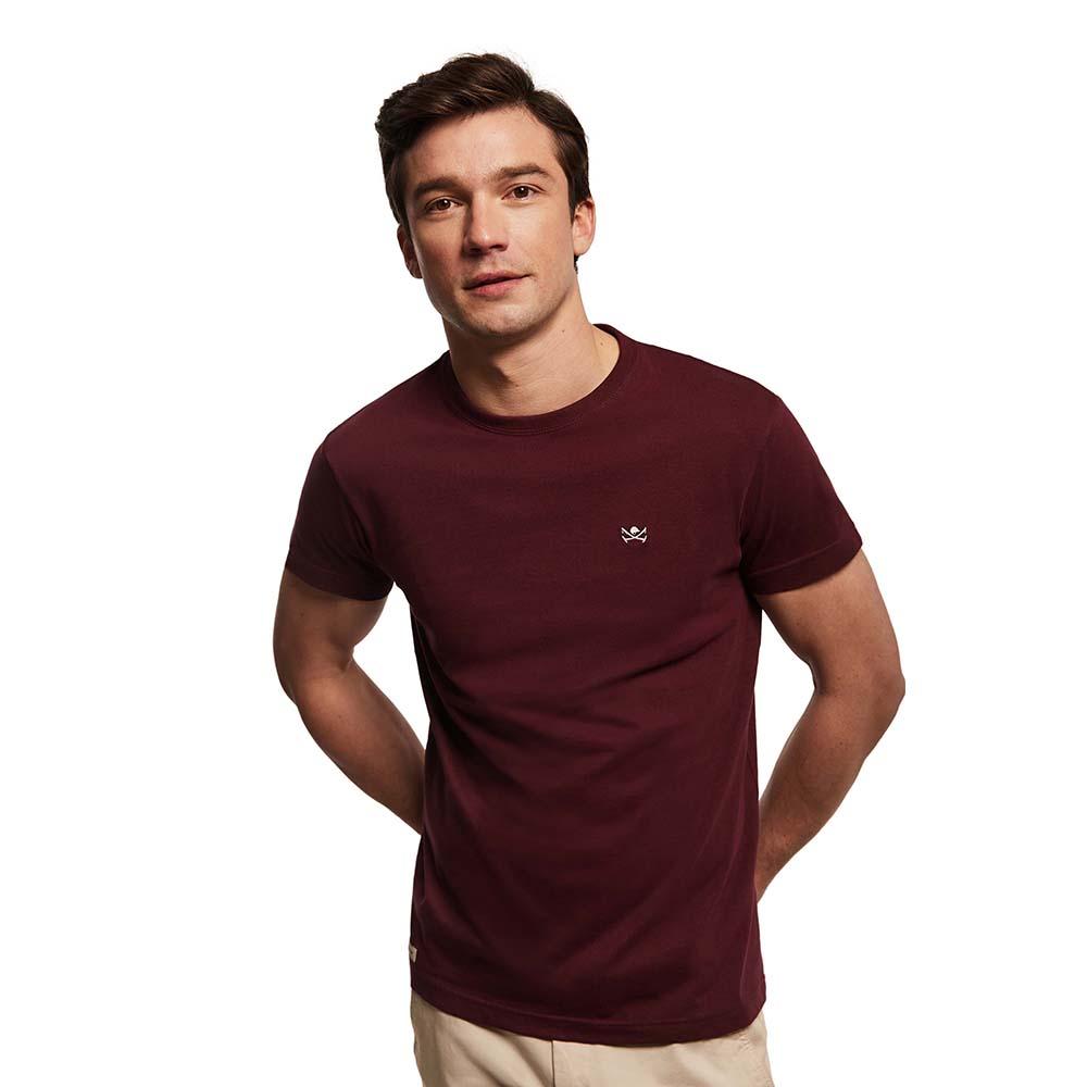 Camiseta m/corta hombre - burdeos