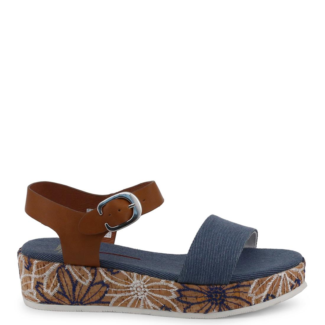5cm Sandalia plataforma mujer - azul