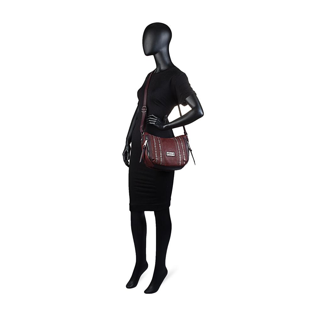 Bolso bandolera mujer - granate