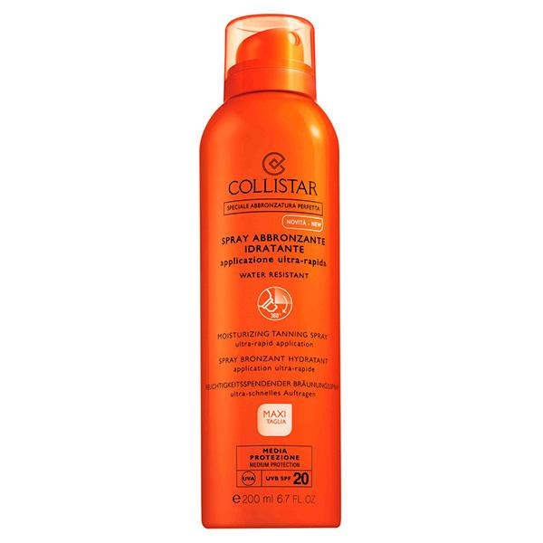 Spray hidratante corporal para el bronceado SPF20