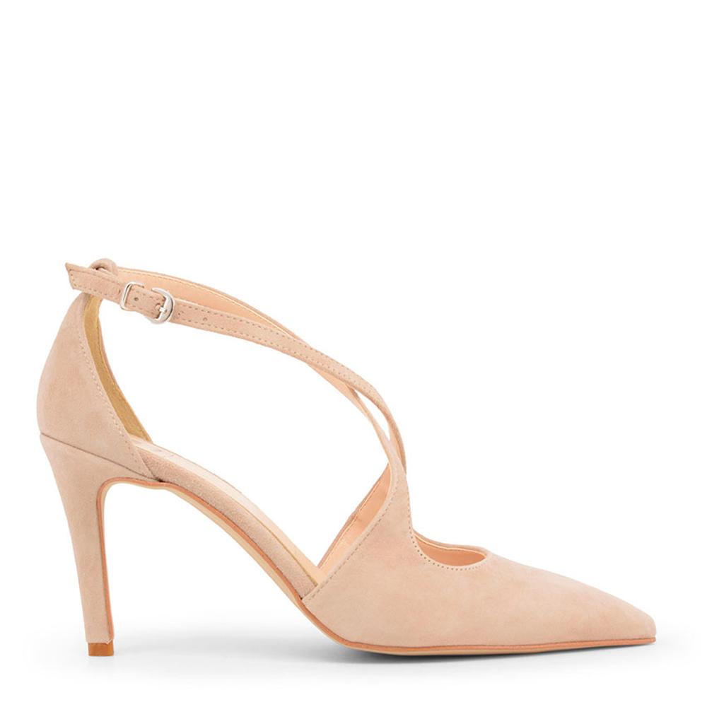 Zapato tacón ante mujer - nude