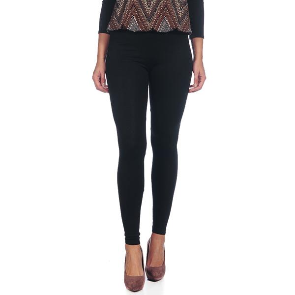 Pantalón largo tipo leggings liso - negro