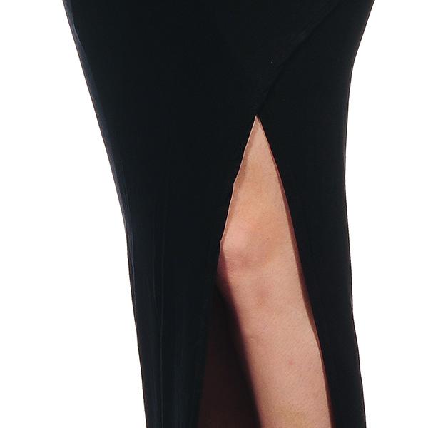 Falda larga de tubo cruzada - negro