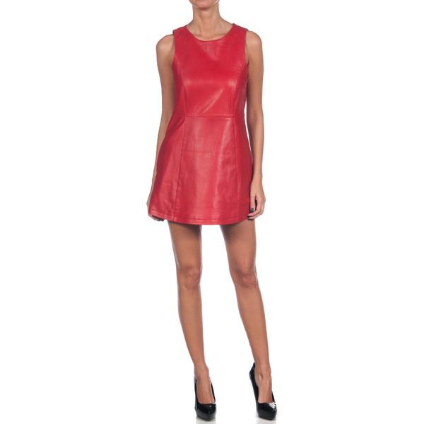 Vestido sin mangas piel - rojo
