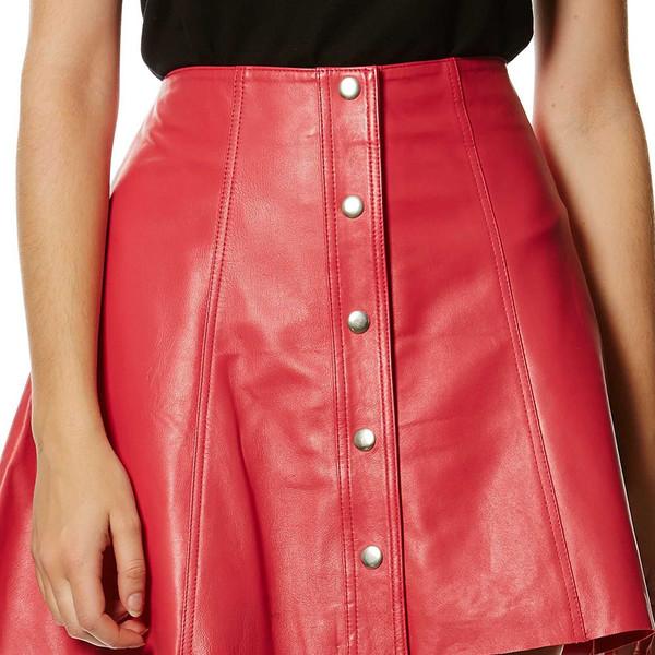 Falda de piel - magenta