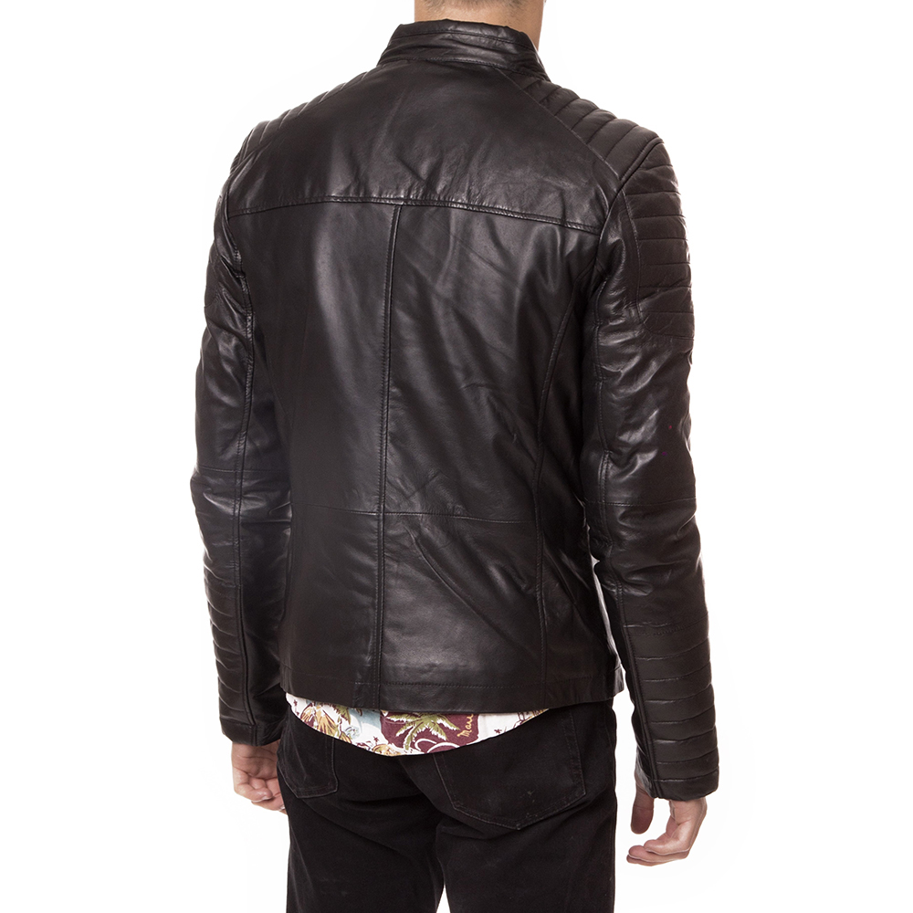 Chaqueta piel hombre - negro