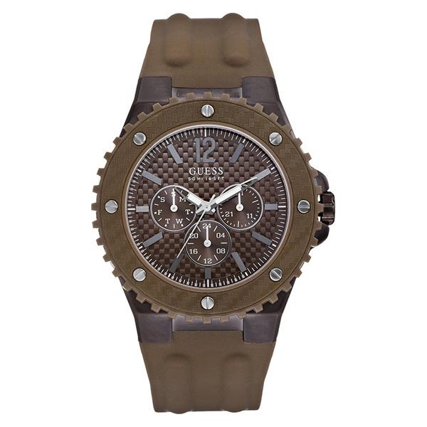 Reloj analógico caucho hombre - marrón