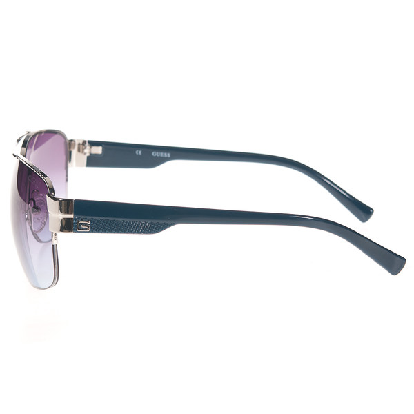 Gafas de sol hombre calibre 60 metal - gris/plateado/azul