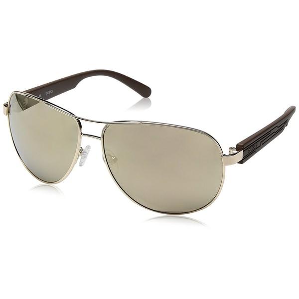 d00a09bb5b Gafas de sol hombre Cal. 64 metal - dorado GUESS GU6675-6432C