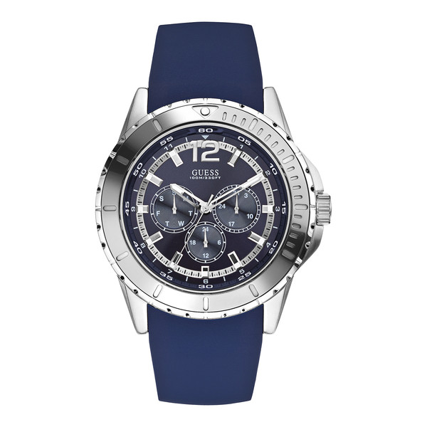 Reloj hombre analógico acero/silicona - azul/plata