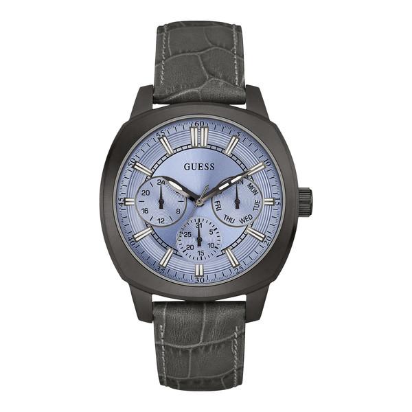 Reloj analógico poliuretano/piel hombre - gris