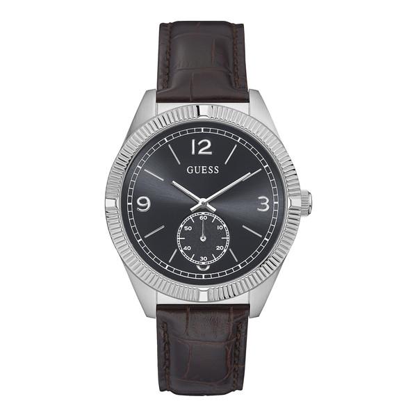 Reloj analógico poliuretano/piel hombre - marrón