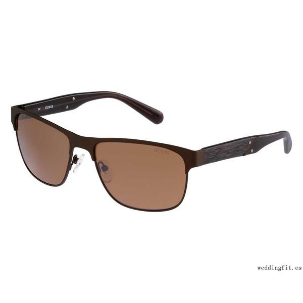 Gafas de sol de hombre metal - marrón