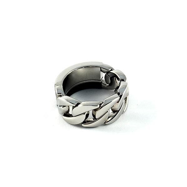 Anillo acero/fibra carbono hombre - plateado