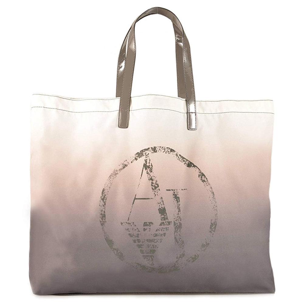 Bolsa compra mujer - gris/beige
