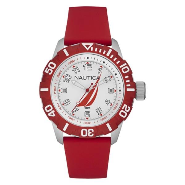 Reloj analógico silicona hombre - rojo