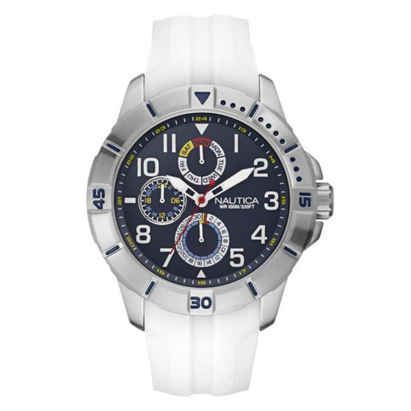 Reloj analógico silicona hombre - blanco