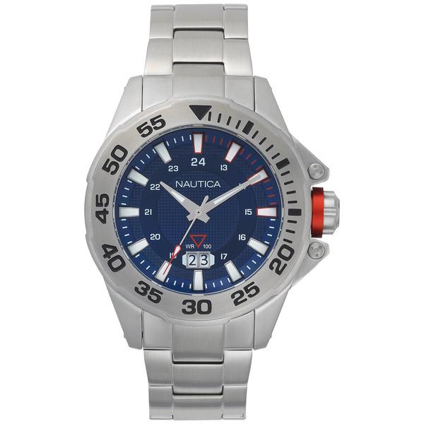 Reloj analógico hombre acero - gris