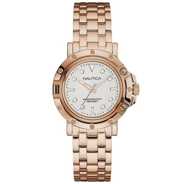 Reloj analógico acero mujer - rosado