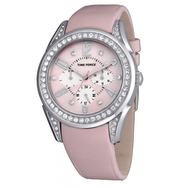 Reloj multifunción piel mujer - rosa