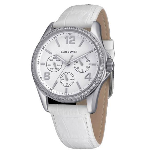 Reloj multifunción piel mujer - blanco