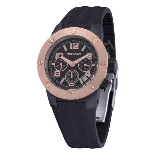 Reloj analógico hombre - negro/dorado