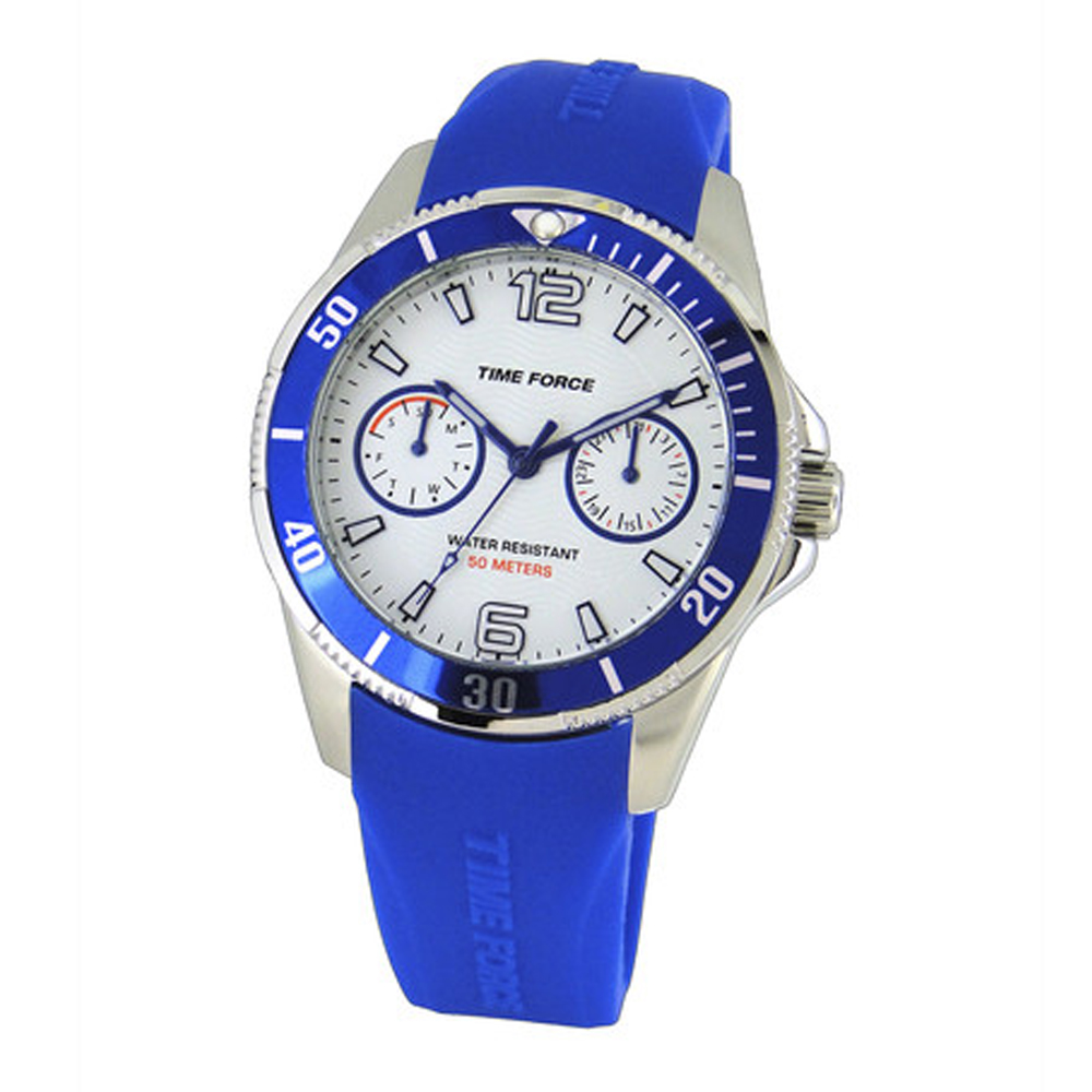 Reloj analógico infantil - blanco/azul