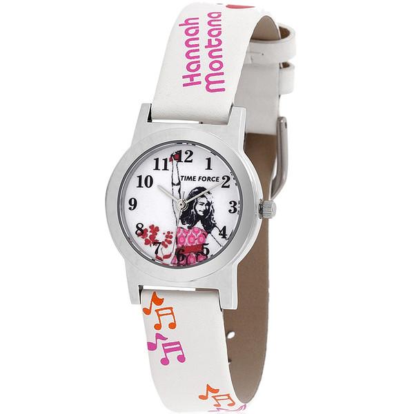 Reloj analógico piel infantil - blanco