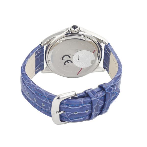 Reloj analógico piel hombre - azul