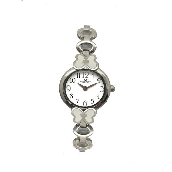 Reloj infantil analógico acero - blanco/plateado