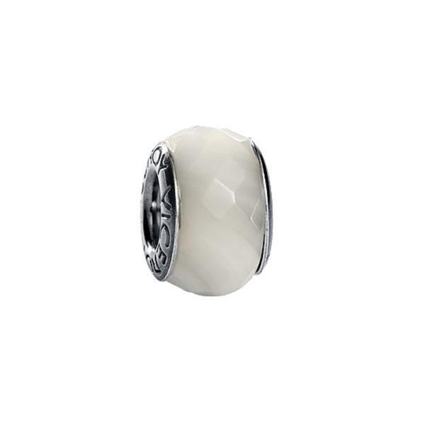 Abalorio de plata mujer - blanco