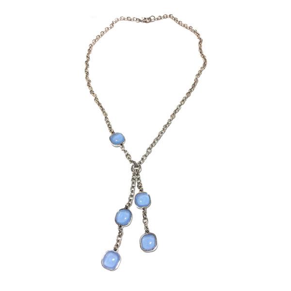 Collar plata mujer - azul