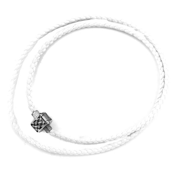 Collar plata mujer - blanco