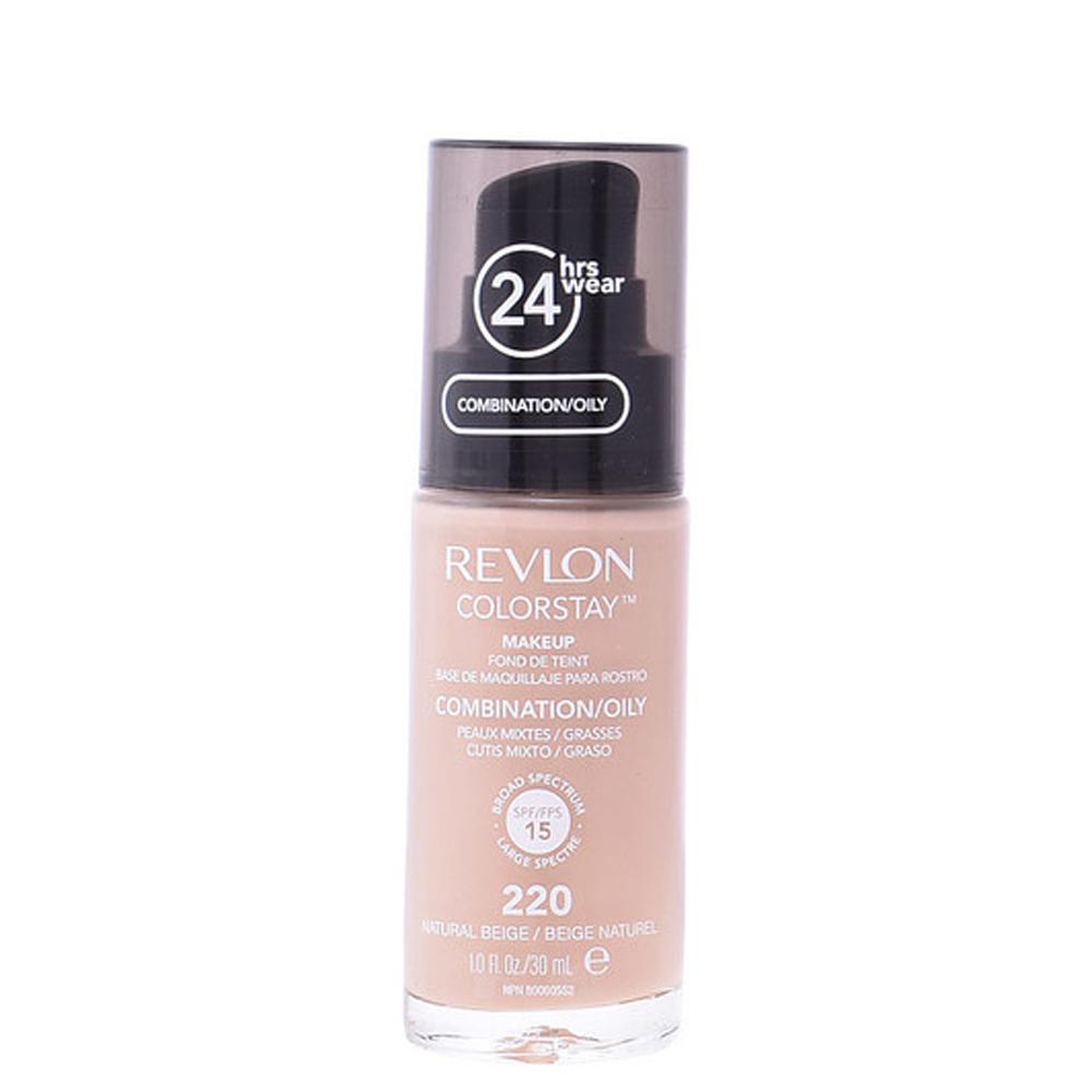 Base de maquillaje piel grasa/mixta - #220 natural beige