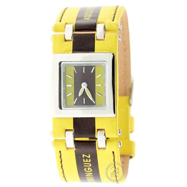 ADOLFO DOMINGUEZ  - Reloj mujer analógico cuero - amarillo/negro