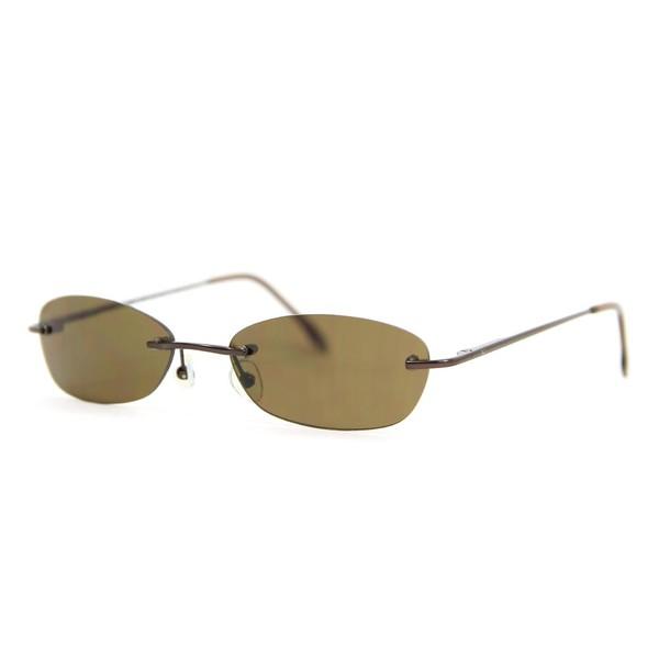 Gafas de sol metal mujer - marrón